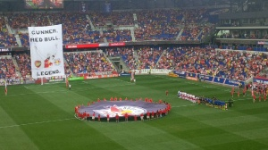 Red Bull Arena, minutes before kick-off