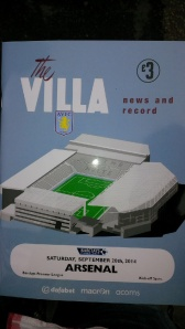 Great programme cover replicating bygone days