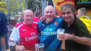 A few beers with our friends from the Dover Gooners