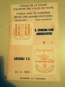 Anderlecht away, April 1970