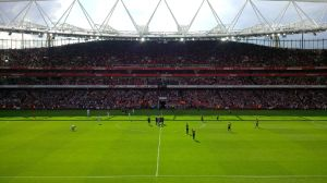 Before the goal glut at a sundrenched Emirates Stadium