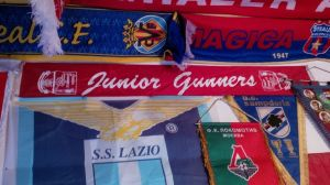 My Junior Gunners Scarf sitting proudly amongst some of my other memorabilia!