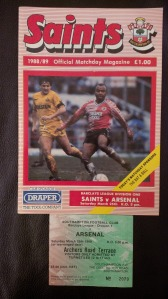 Programme & Match Ticket on the 1989 day where we won 3-1 at The Dell