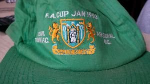 An ageing souvenir cap from a memorable day out